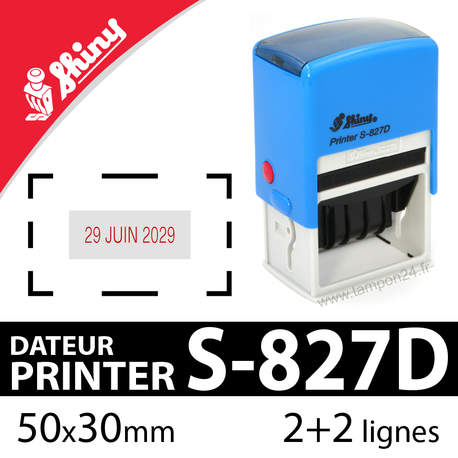 Tampon dateur personnalisable Shiny Printer S-827D