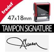 Tampon signature