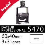 Tampon dateur 60x40mm - Trodat Professional 5470