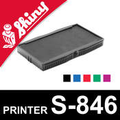 Cassette encrage Shiny Printer S-846