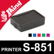 Cassette encrage Shiny Printer S-851