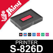 Cassette encrage Shiny Printer S-826D