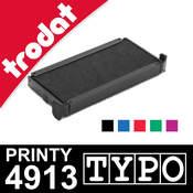 Cassette d'encrage pour Trodat Printy 4913 Typo