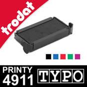 Cassette d'encrage pour Trodat Printy 4911 Typo