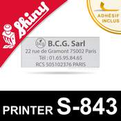 Empreinte pour Shiny Printer S-843