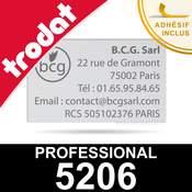 Empreinte pour Trodat Professional 5206