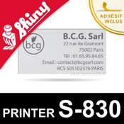 Empreinte Shiny Printer S-830