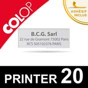 Empreinte pour Colop Printer 20
