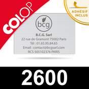 Empreinte Colop 2600