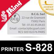 Empreinte pour Shiny Printer S-828
