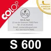 Empreinte caoutchouc personnalisée pour tampon Colop S 600