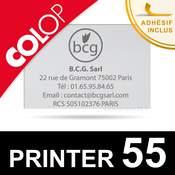 Plaque de texte personnalisée caoutchouc pour Colop Printer 55