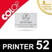 Plaque de texte pour Colop Printer 52 - Empreinte caoutchouc