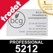 Empreinte pour Trodat Professional 5212 - Plaque de texte personnalisée