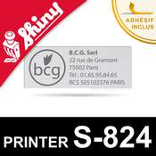 Empreinte de texte pour tampon Shiny Printer S-824