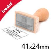 Tampon bois 41x24mm