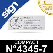 Empreinte caoutchouc personnalisée pour Sign Compact n°4345-7