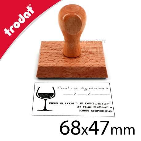 Wood stamp à personnaliser 9 à 10 lignes