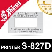 Empreinte caoutchouc personnalisée pour dateur Shiny Printer S-827D