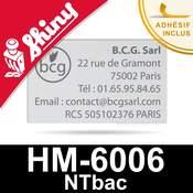 Empreinte pour tampon Shiny HM-6006 NTbac - Plaque de texte personnalisée