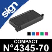 Cassette d'encrage pour Sign Compact n°4345-70