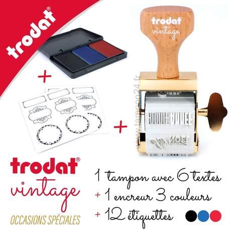 Tampon Vintage Trodat Occasions Spéciales